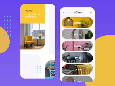 Interior shop mobile UI