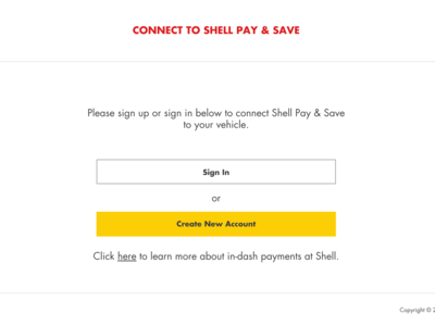 Shell S Pay - Connect Car Portal