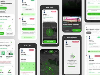 Covid Care App UI application application ui app design userexperiencedesign userexperience visualdesigner designer design interaction app visual design uxdesign digitaldesign covidcare appui appdesign userinterface uiux