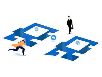 Customer reach agent easily using chat 2d animation logo graphicdesign clean design banner graphic design illustraion procreate illustrator illustration