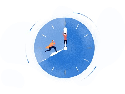 Time is important logo graphicdesign clean design illustration graphic design illustraion procreate illustrator banner
