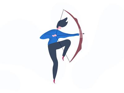 Woman with bow 2d animation logo graphicdesign clean design banner graphic design illustraion procreate illustrator illustration