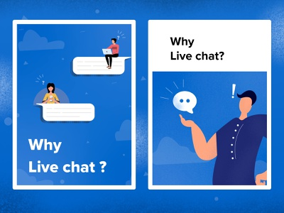 Why using live chat? branding redesign design illustraion 2d animation art logo graphicdesign procreate illustrator