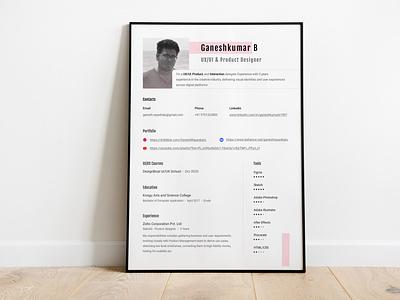 Updated Resume cv resume