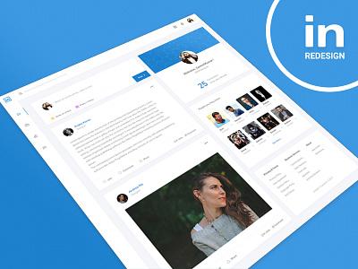 Linkedin Redesign app web redesign linkedin