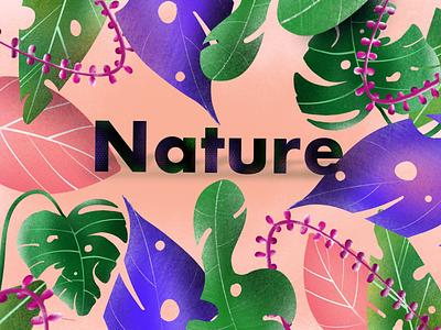 Nature of leaf procreate illustration