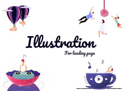 Music Illustrations 2d animation logo graphicdesign clean design banner graphic design art illustraion procreate illustrator illustration