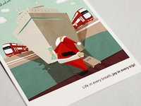 illustration for xmas postcard