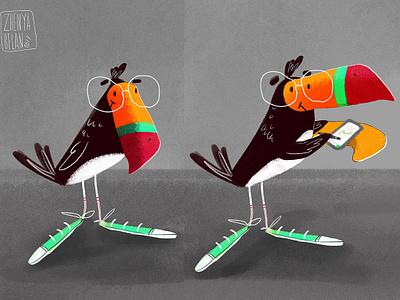 Tucan Marti characterdesign toucan wacom illustration character concept character art