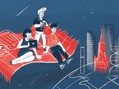 illustration for magazine china space tourism magillustration magazine moscow illustration