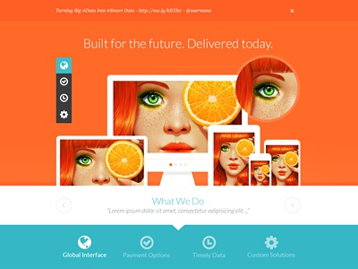 Teal and Orange - Web Layout flat design 3d web design orange teal minimal flat website layout web design webdesign
