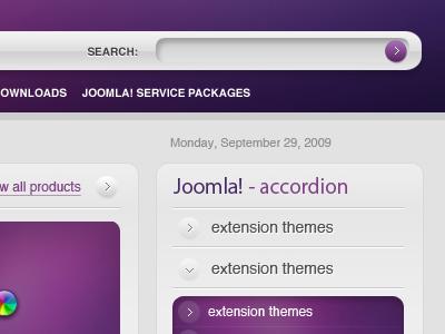 Joomla - Leopard Theme 3. joomla theme web menu navigation icon website button layout accordion design form helvetica apple web design