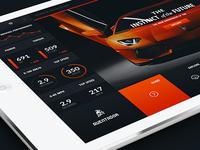 Lamborghini Aventador - Web Layout