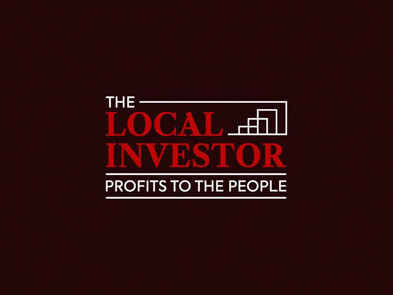 The Local Investor chart profit investor marketing wordmark