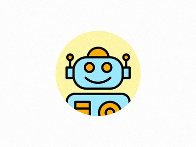 Robonamix mascot logo cute bot robot