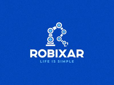 Robixar lettermark automation robotics mechincal robot arm