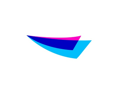 AirXe colorful design plane jet origami logo paper airplane