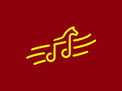 Music Horse fun art logo music notes music app horse