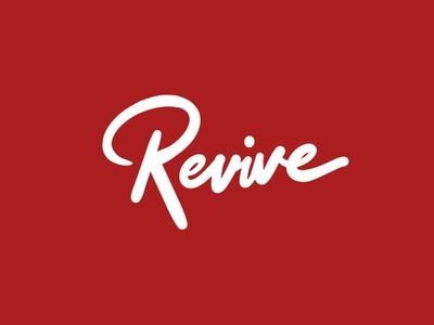 Revive customtype logo hand writing custom writing wordmark lettering typography calligraphy