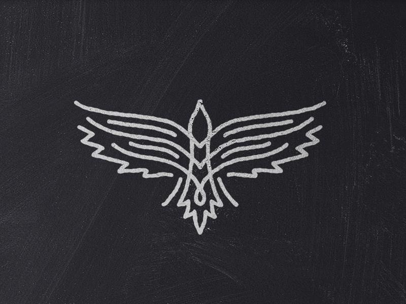 Eagle / Hawk logo flying bird wings tattoo vintage medieval tribal bird hawk eagle