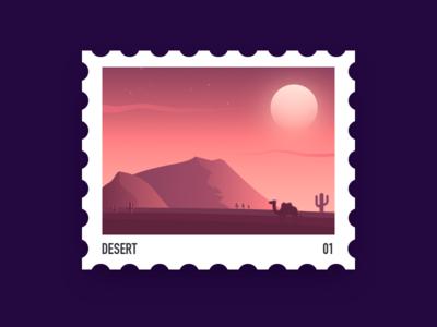Desert stamp
