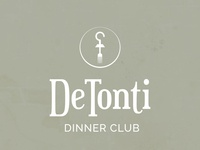 De Tonti Dinner Club Logo Design