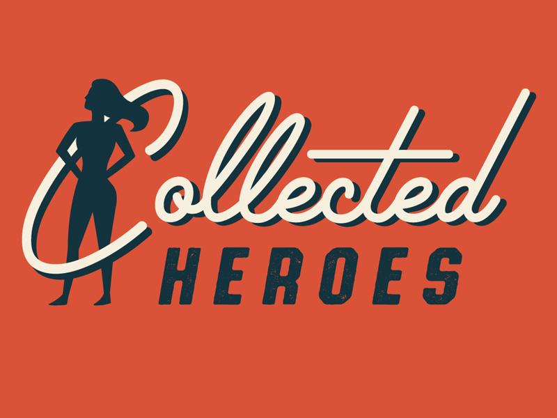 Collected Heroes socialmedia heroes hero quotes modern retrodesign retro vector design illustration logo type typography illustrate illustrator branding