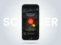 iOS Iris Scanner interface login meatball iphone mobile eye iris layout scanner ios ux ui