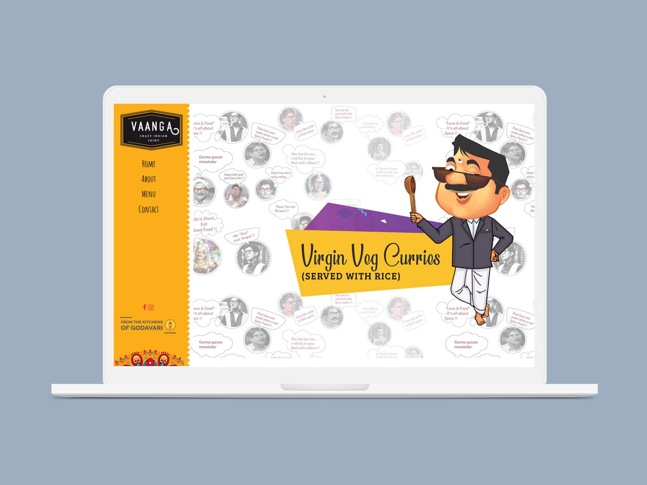 Vaanga South Indian food in Boston vaanga restaurant in boston illustrations design characters food menu design work food ui ux design vaanga south indian food in boston