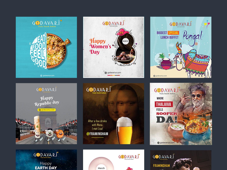 Social Media Post South Indian Restaurant By Axlr Data On Dribbble