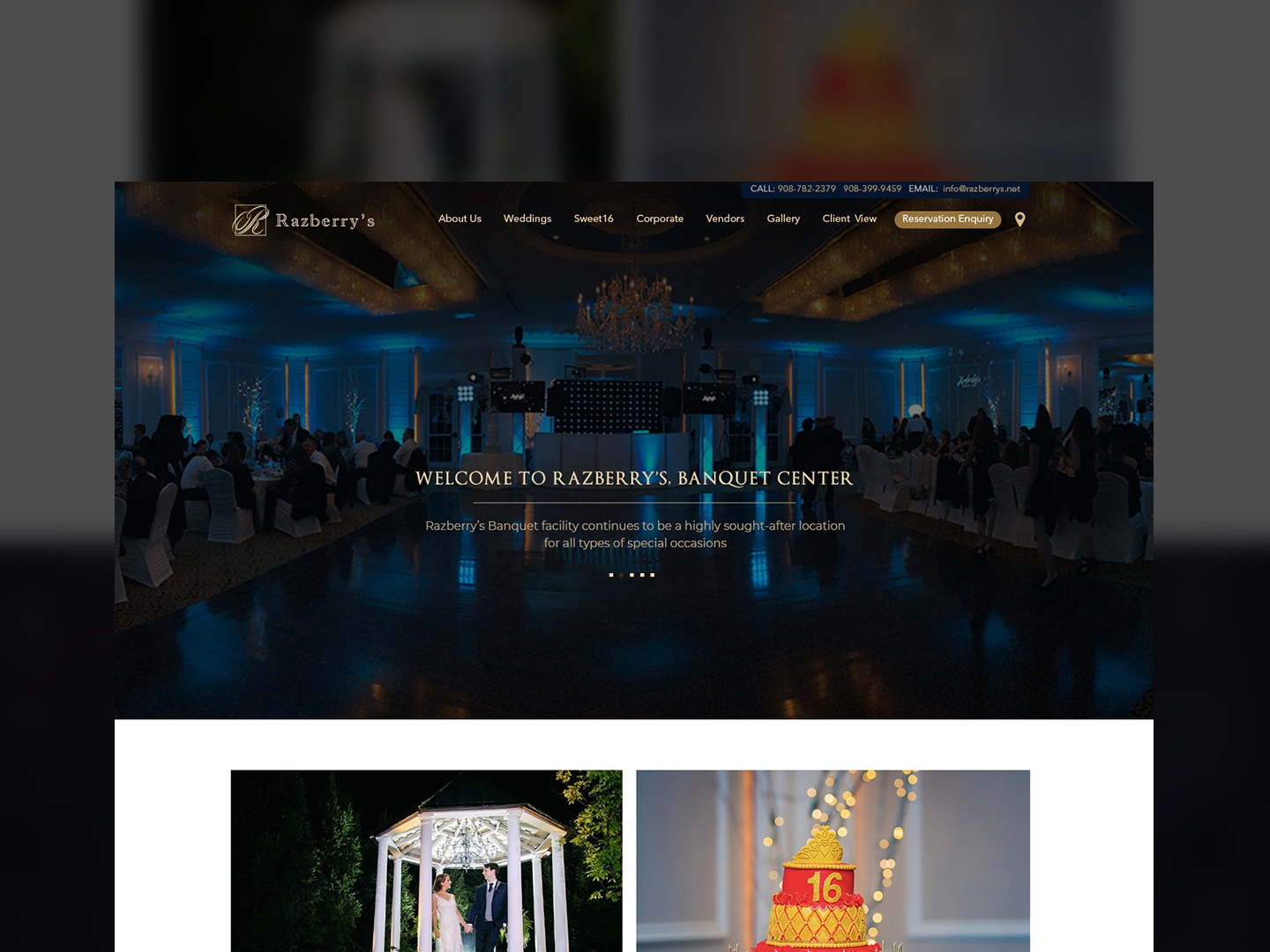 Razberry Banquet hall website ui royal theme dark design dark mode dark ui ux design ux  ui ui website website banner website concept website design homepage design homepage banquet hall ad campaign illustration ui ux design best ui ux solution design work