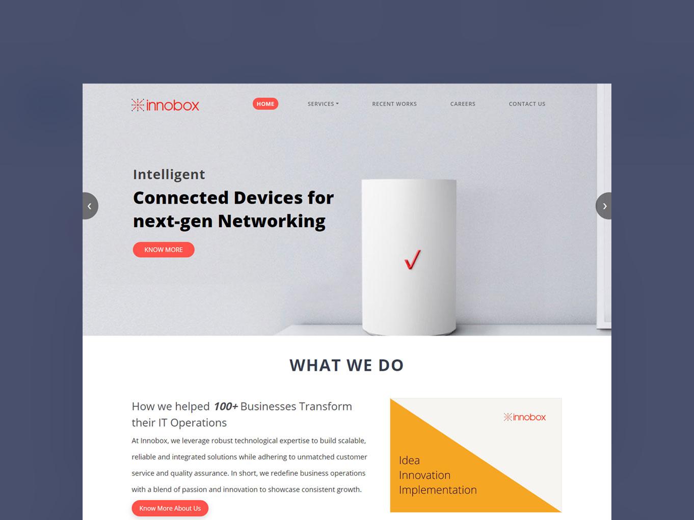 innobox intelligent connect devices next generation networking design indian ui ux design app design best ui ux solution design work networking next generation connect devices intelligent innobox