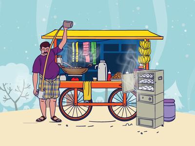 Traditional Indian roadside shops