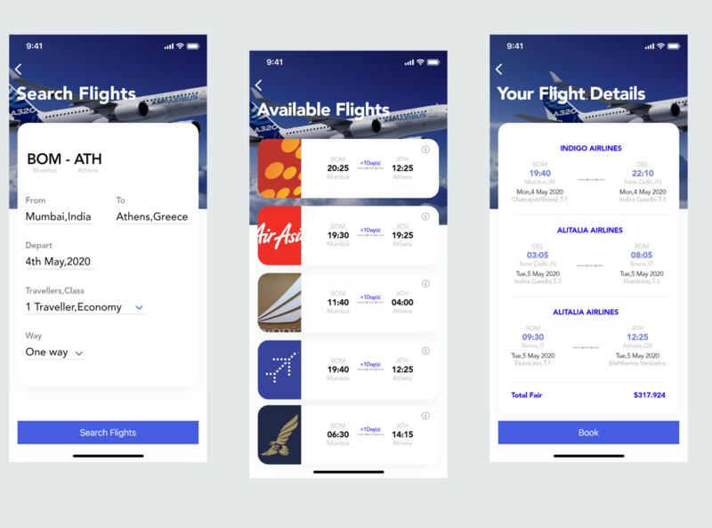 My take on Flight booking app.