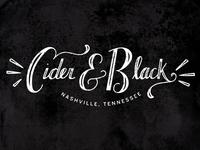 Cider & Black Logo