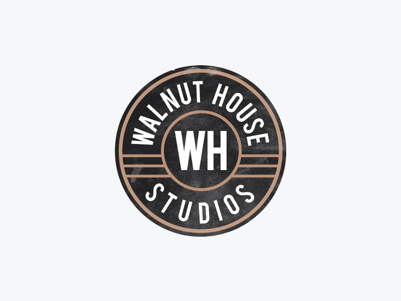 Walnut House Studios recording studio h w seal house walnut branding identity logo
