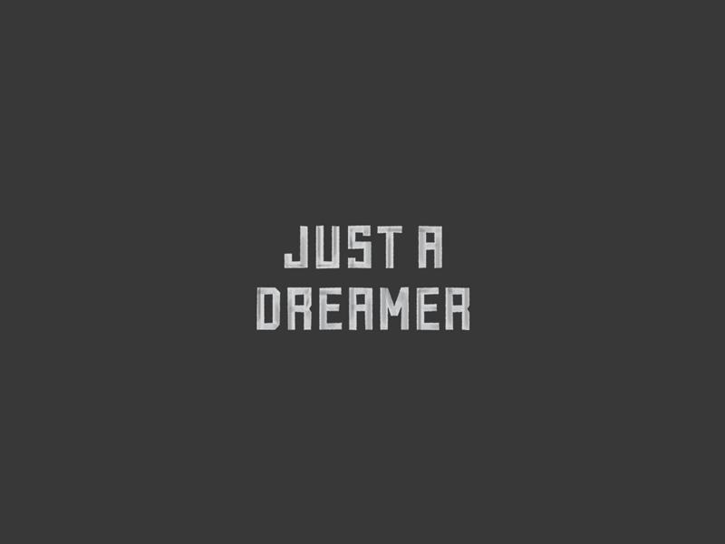 Dreamer brush texture hand lettering serif lettering