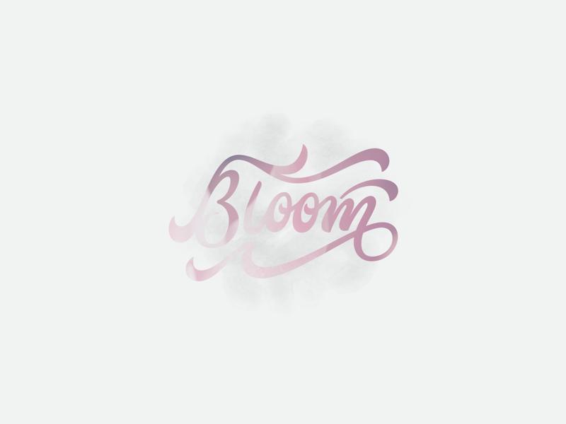 Bloom hand lettering script logotype logo lettering