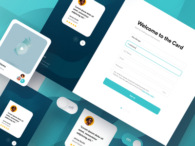 Onboarding Ui Preview onboarding screens sign up ui dark blue blue onboarding ui on boarding flow sign in welcome page play button off on switch testimonial sign up onboarding