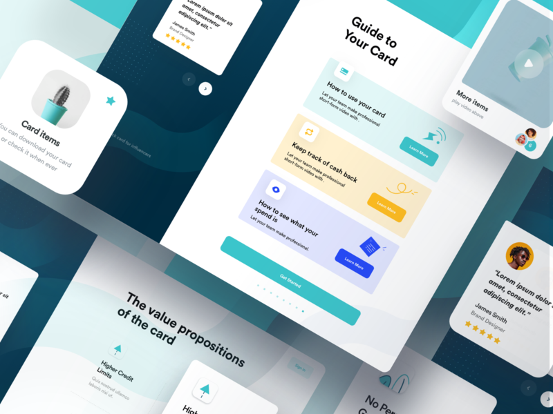 Full Onboarding Flow credit limit credit card cards teal blue instructions how to onboarding screen app design icons web app app walkthrough step by step welcome onboarding