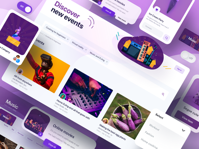 IRL Discover Page - Full Thing irl music album music app social app social dropdowns online pages 2020 ui trends swtich fortnite events page ui alex banaga product music icon music web app discover
