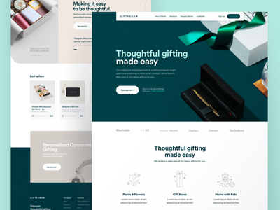 Giftagram - Corporate Page gift card gift box pens online business online order uiux landing page ui ordering landing page clean layout ecommerce app ecommerce christmas card christmas gifting gift