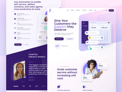 Percept.ai Homepage - Preview perception banaga support center stocks money cost testimonial icons ticket ticketing customer support customers homepage landingpage ai website design website