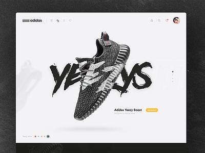 Yeezys white clean website ui store adidas nike west kanye yeezy