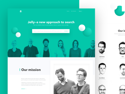 Jelly About Us ask biz mission search about landing jelly