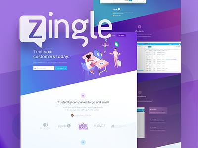 Zingle.me icons customers mobile texting skew colors web zingle