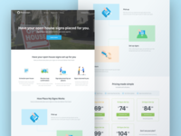Place My Signs Landing Page