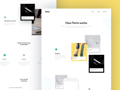 Parta How it Works Page mobility ios android accessibility application mobile interface ui design website parta