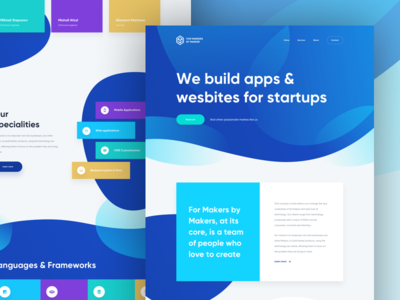 FMBM Full Site marker blue create new build interface startups design website fmbm