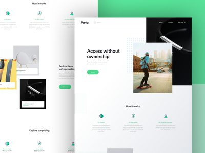 Parta Home Page online convenience accessibility landing page interface ui design website homepage parta